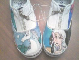 Last Unicorn Custom Shoes by Marchen-de-lune