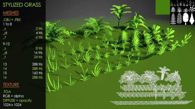 Multi Stylized Grass by Yughues