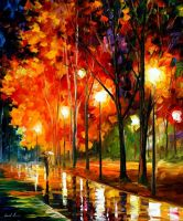 Reflections Of The Night by Leonid Afremovabstract by Leonidafremov