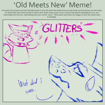 OLD OC MEETS NEW OC - MEME by NekoWolfAJ