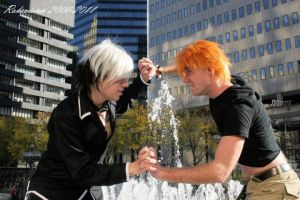 Kyo and Hatsuharu FIGHT by NitsukuCosplay