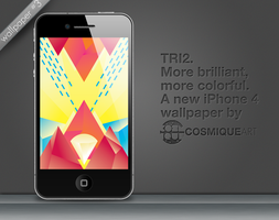 TRI. n.2 - iPhone 4 Wallpaper by CosmiqueArt