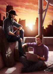 Sniper and Hacker by Lienwyn