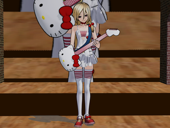 MMD Kitty'er plays guitar? by AppledPie
