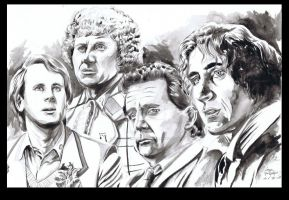 Doctor Who The Four Doctors by ShawnVanBriesen
