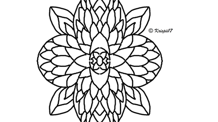 Flower in my new style just learnt by Krispii200