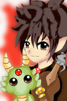 Boy, Dragon and a little mouse. xD by MelodiyaMoon