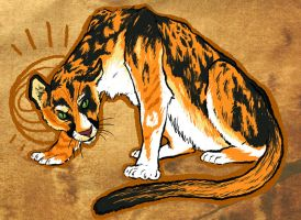 Calico Cougar by ceallach-monster
