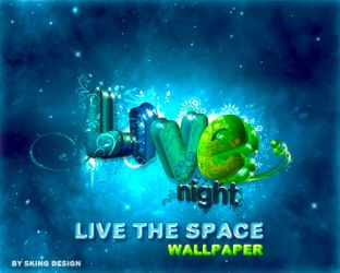 Live the space night by skingcito