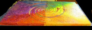 colorwheel turning (angled view 1) by spiralcosmosart