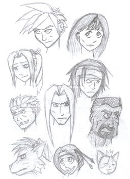 FF VII Characters by Aurisath