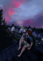 Rooftop by pinearts