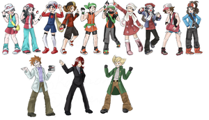 Pokemon Trainers and Rivals by bunnish