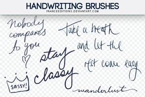 Handwriting  BRUSHES franceeditions! by FranceEditions