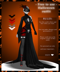 FREE TO USE: Halloween Outfit by CherrysDesigns