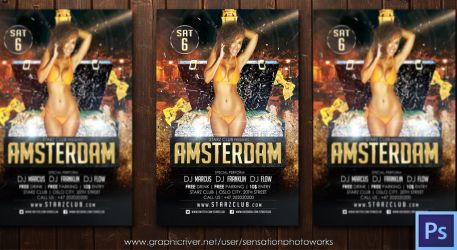 Amsterdam Party Flyer Template by SensationPhotoworks