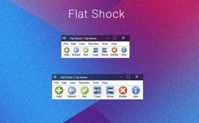 Flat Shock 7-Zip theme by alexgal23
