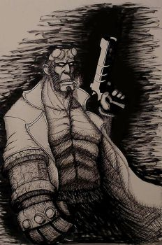Hellboy by NoodelsDuudles