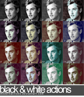 Black and White Actions by ModernActions