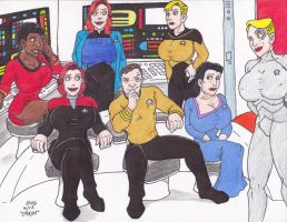 Kirk Has a New Crew by Crash2014