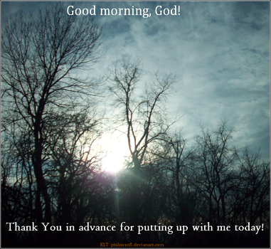 A Prayer For Every Morning by ptsluvsnfl