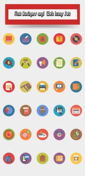 Flat-business-and-web-icons-set by CURSORCH