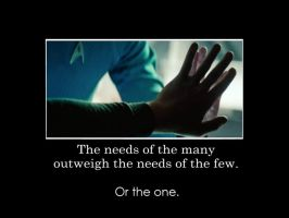 Star Trek Into Darkness: The needs of the many... by gamera68