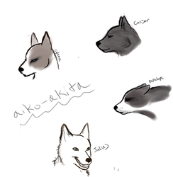 Roleplay Doodles by Aiko-Akita
