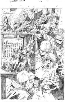 Catwoman 28 page 1 pencils by PatrickOlliffe