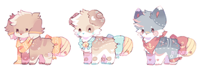 + bell pups    flatsale adopts (closed) + by MellowKun