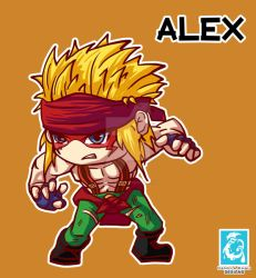 Street Fighter - Alex [Maplestory Style] by RedCaliburn