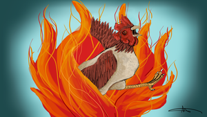 275 - Flaming Potato Chicken by Shasel