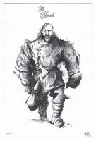 The Hound Sketch by ChrisBMurray