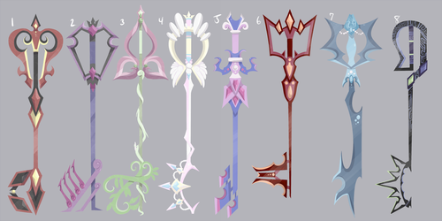 Keyblade Adoptables by Galefaux