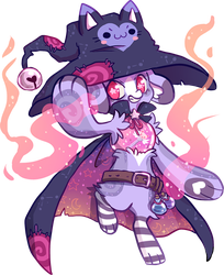 43 Terratrap - V1 - Cat Witch CLOSED by QviCreations