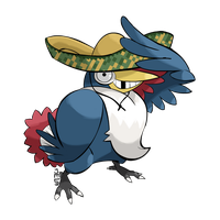 Commission Sketch - Mexican Honchkrow