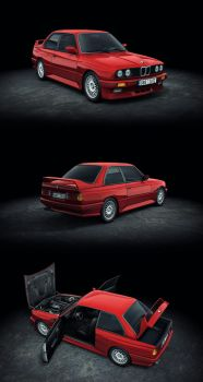 BMW M3 E30 low poly by M0NTEZUMA