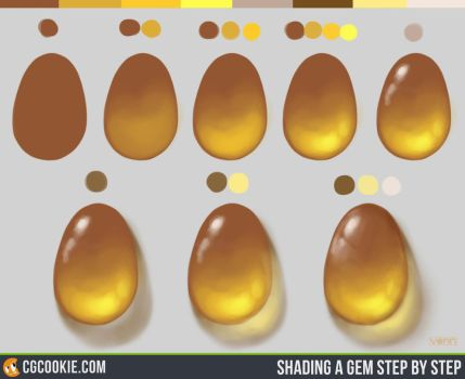 Shading a Gem Step by Step by CGCookie