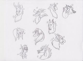 Sketches for Llamas: Part 1 by PamPoke