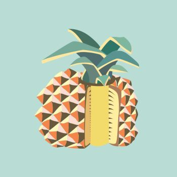 Pineapple fruit illustration by LIVEyourDR3AM