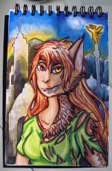Ixchel the mexican She Wolf by LuCIoos