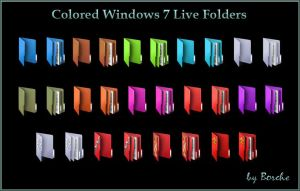 Colored Windows 7 Live Icons by Borche
