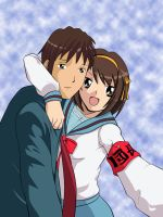 Haruhi and Kyon revisited by doomDefiant