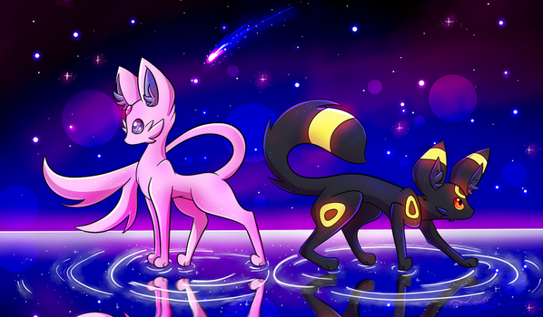 ESPEON UMBREON IN THIS HIZZAOW by frostlie