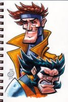 Wolverine and Gambit by Chad73