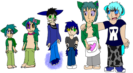 Gijinka'd Kage Family :3 by ShadowMunchlax