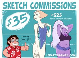 Sketch commissions OPEN by IZRA
