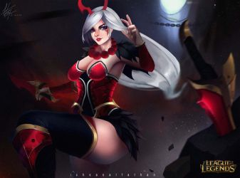 katarina blood moon  by Ichsanalfathan