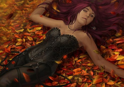 I love autumn by fantazyme