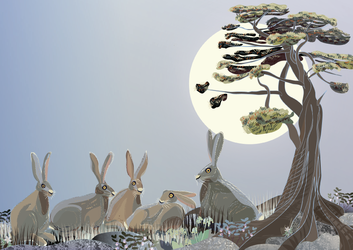 Hare story: family meeting by Starsong-Studio